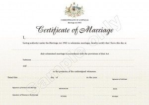 Sample Marriage Certificate