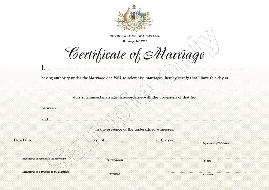 Marriage Certificate | Simple Ceremonies - Get Legally Married In