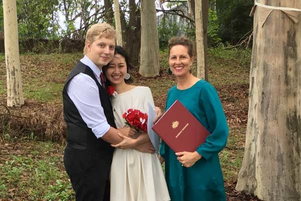Marriage registry alternative at Baulkham Hills. Beautiful park to get married in