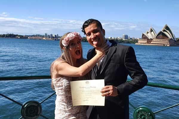 Marriage Celebrant, Michael Teulon, on Sydney Harbour