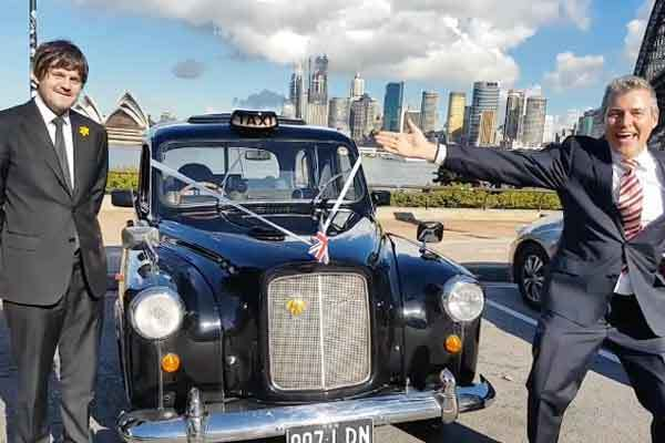 Marriage Registry Office, London Cab on Sydney Harbour Bridge, Sydney