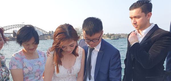 Marriage Registry Office, Water Taxi, Wedding on Sydney Harbour