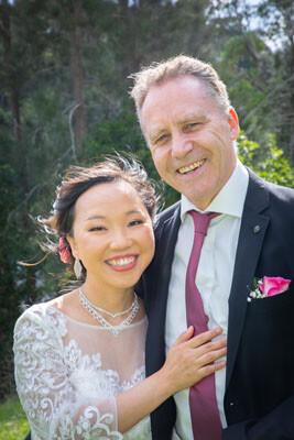 Bush wedding ceremony with Marriage Celebrant in Sydney
